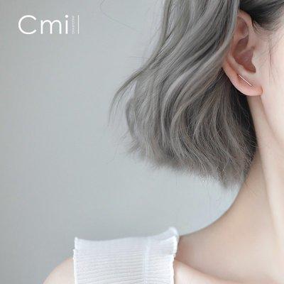 FAINO 訂書針銀耳釘簡約個性小巧設計感小眾學生耳環韓國女2019新款潮