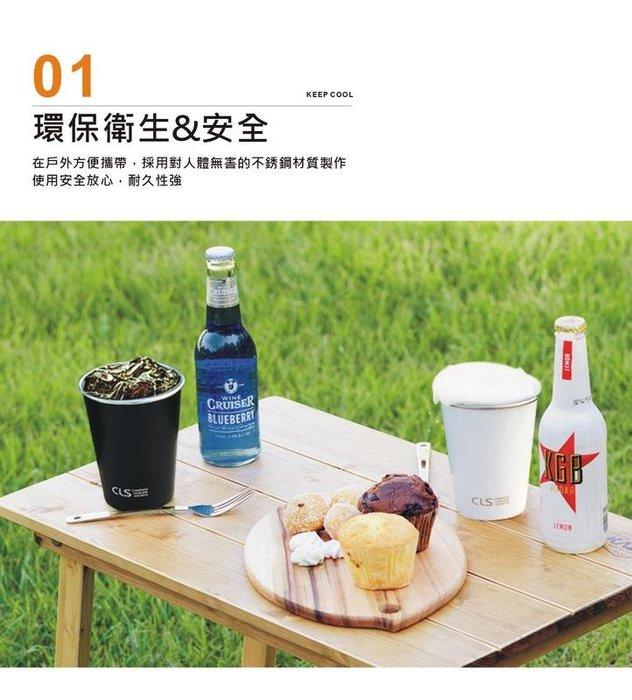 SUS 304不鏽鋼杯 攜帶型4入/ 高質感 食品級 露營小物 酒杯 茶杯 飲料杯 野營杯 登山水杯(搪瓷白/送收納袋)
