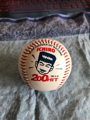 NPB 日本職棒 歐力士藍浪隊 鈴木一朗 單季200安 紀念球 LOGO球 肖像球 印刷簽名球
