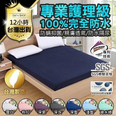 【台灣製造 防水保潔墊 影片實拍】雙人特大 防水保潔墊 床包式保潔墊 床包 床單 防塵床單 雙人床包 防塵墊