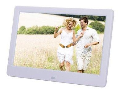 新款10吋10寸數位相框高清增強版超薄窄邊全格式支援 電子相框 影音播放MP3 MP4/鬧鐘/內建喇叭/遙控器附送電源