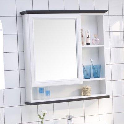 浴室置物櫃浴室鏡櫃掛墻式衛生間鏡子帶置物架浴室櫃鏡子廁所梳妝鏡櫃壁掛