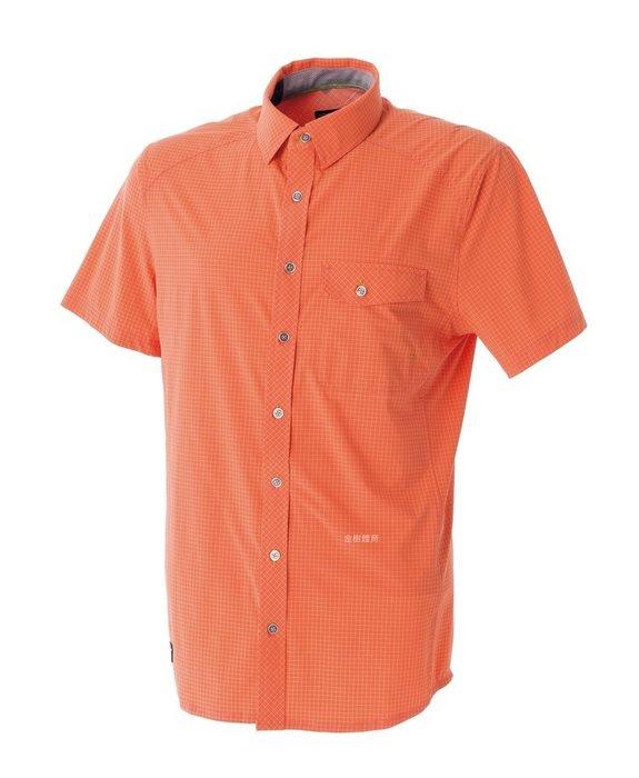 荒野 WILDLAND 男彈性抗UV抗紫外線短袖襯衫 格紋襯衫 防曬襯衫 吸濕快乾 輕薄涼爽 罩衫 0A51208