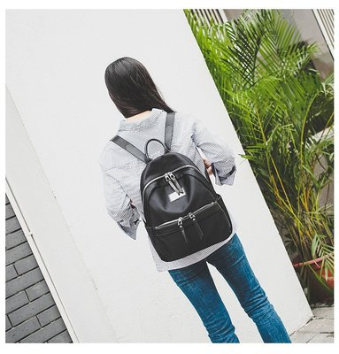 正韓連線高質感尼龍後背包 多口袋設計 後背包 背包 包包 尼龍 高密度 女包 媽媽包 手提包 母親節