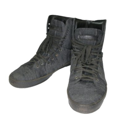EMPORIO ARMAN 亞曼尼 黑灰色 毛料的短靴 EU size42號 エンポリオ アルマーニ 布製ブーツ 新北市