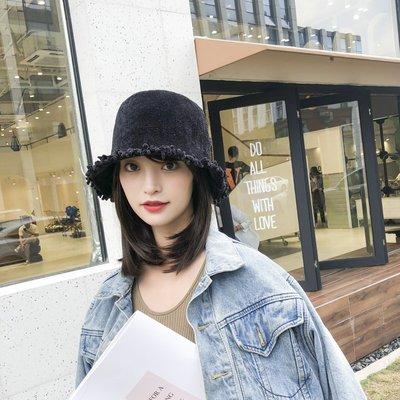 999漁夫帽女秋冬韓版日系文藝時尚百搭原宿復古英倫戶外針織盆帽子潮帽子