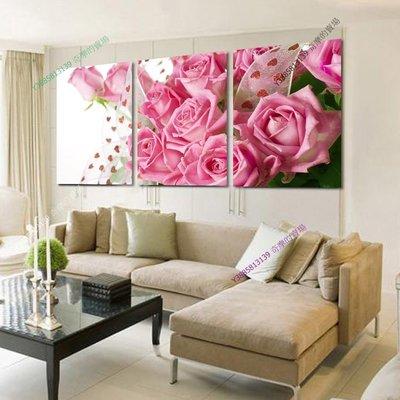 【50*50cm】【厚2.5cm】玫瑰-無框畫裝飾畫版畫客廳簡約家居餐廳臥室牆壁【280101_361】(1套價格)