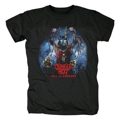 美國Jungle Rot老式死亡金屬Kill On Command專輯流行音樂紀念T恤
