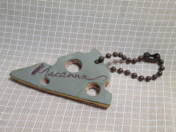 MACANNA 麥坎納 起士雙色 皮革吊飾 錀匙圈