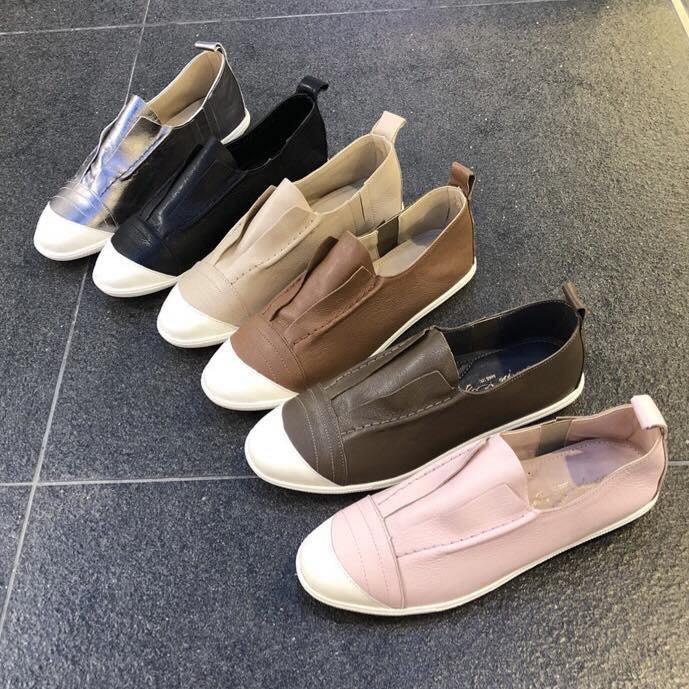 『※妳好,可愛※』韓國童鞋 韓國女鞋 (正韓) 真皮休閒鞋  懶人鞋 平底鞋 樂福鞋 真皮輕巧女鞋