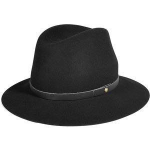 RAG&BONE 黑色 軟呢帽 Floppy Brim Fedora
