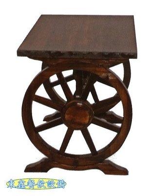 ~~東鑫餐飲設備~~  全新 B295-2 車輪桌 / 造型桌 / 造型木桌 / 餐桌 / 風格桌