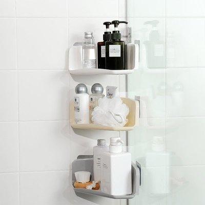 轉角瀝水置物架 衛生間收納架 浴室免打孔強力壁掛洗漱架子 #0505