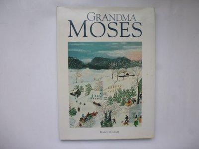 ///李仔糖舊書*1991年英文原版MAGNA BOOKS出版.GRANDMA MOSES畫冊=精裝(k518)