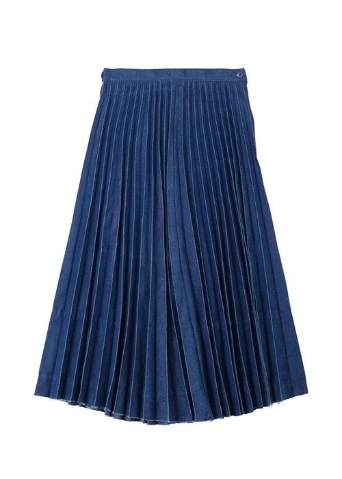 【日本代購】小店主的購物小店:ネ・ネット 裙子 デニムプリーツ NE91FG0521302