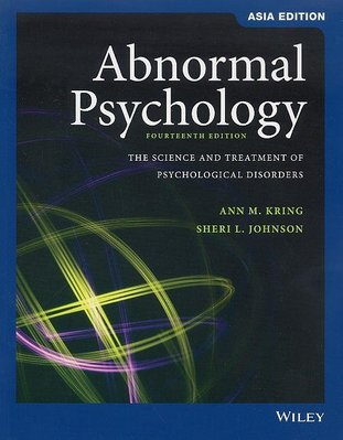 ABNORMAL PSYCHOLOGY 14/E KRING 9781119586845 變態心理學