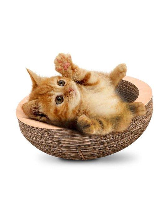 IGO 金多樂貓森林瓦楞紙貓窩貓抓板磨爪器 貓咪用品碗型貓爪板貓玩具【需要其它尺寸可以聯繫客服】【移動雜貨鋪】