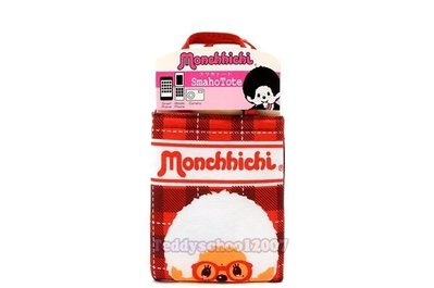 ♥☆♥╮泰迪學園╭♥☆♥ 日本進口Monchhichi【夢奇奇】格子樣式iphone多功用手機套萬用袋