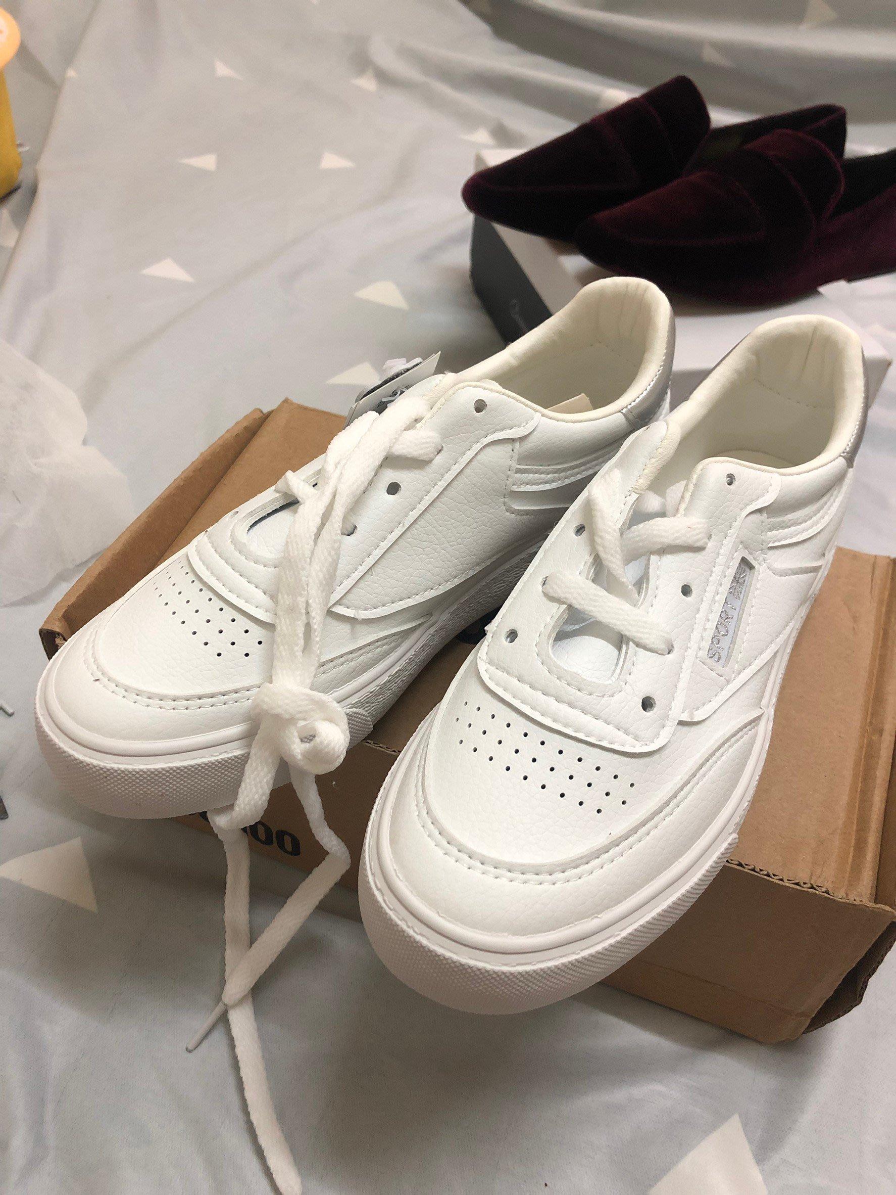 小白鞋 皮質小白鞋 休閒鞋 韓版小白鞋