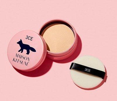 3CE×MAISON KITSUNE 巴黎小狐狸 primer setting powder 蜜粉餅 防偽標籤 ❤現貨❤