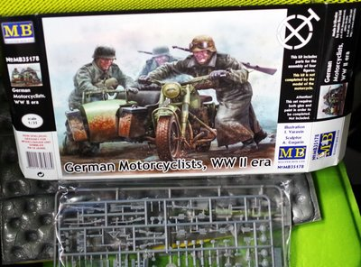 全新-Master Box-35178-GERMAN Motorcyclists-WWII -加3元手續費-1/35-M-250