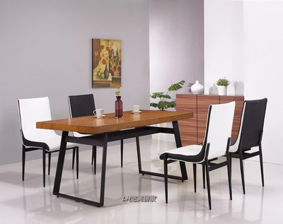 【DH】商品貨號N962-1商品名稱《拉亞》五尺胡桃色餐桌/餐椅(另計)俐落簡約設計。主要地區免運費