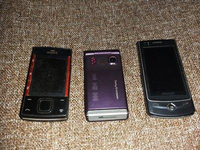 不知好壞手提電話3部包括 Sony Ericsson Nokia Samsung danger mobile 手提電話