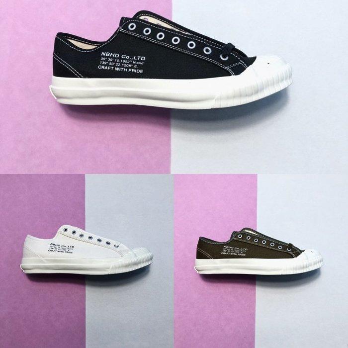 NEIGHBORHOOD G.R./C-SNEAKER 经典款 18SS NBHD 休閒帆布鞋
