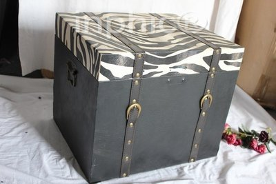 INPHIC-家居飾品工藝擺設品 仿舊皮箱 斑馬紋皮箱