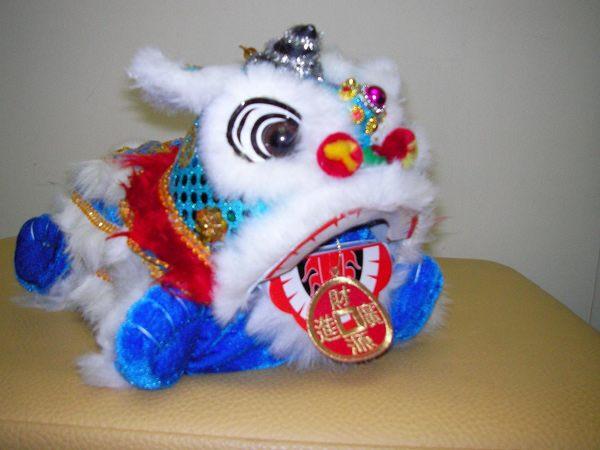 kjleisuretw達客網~~[新年最佳獻禮]~河洛坊布袋戲玩偶~獅子面紙盒套~藍色~送精緻禮盒喔~