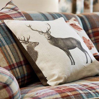 【Uluru】英國期貨窗簾布藝 美式鄉村 EVESHAM DEER 鹿 糜鹿 訂製窗簾 捲簾 羅馬簾 壁紙 工業風