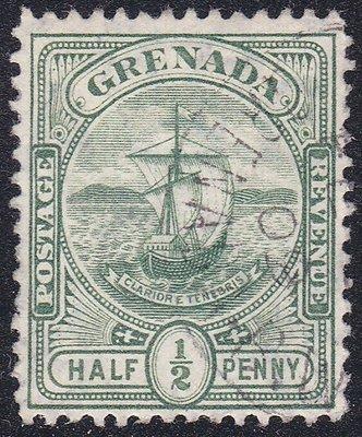 格瑞那達1900『殖民地帆船 1/2便士』雕刻版古典票