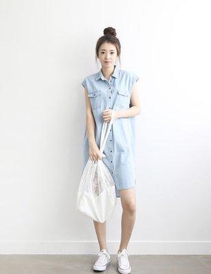 正韓簡約襯衫牛仔洋裝