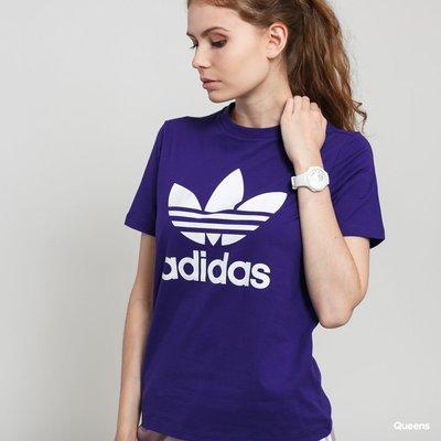 【吉米.tw】] ADIDAS 三葉草 女裝 短袖 休閒 基本款 紫 ED7497 APR