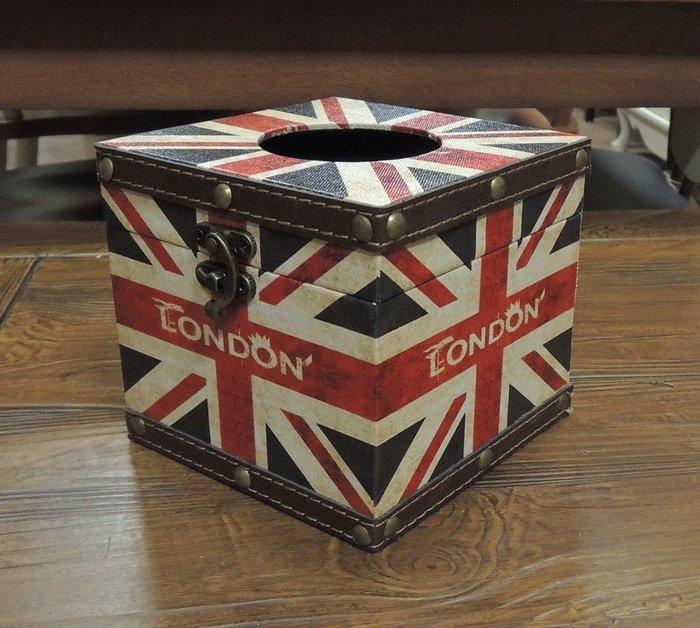 彩圖皮革木製小面紙盒 仿舊英國國旗面紙盒 仿舊英國旗面紙盒 捲筒式衛生紙盒 方型面紙盒 工業風面紙盒 小餐巾紙盒面紙套