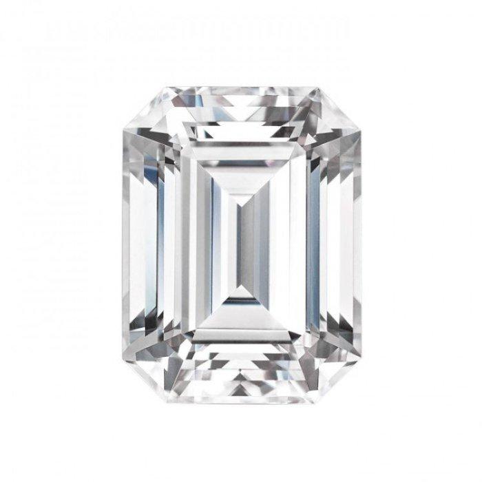 美國最新1.75克拉祖母綠形 莫桑石 摩星鑽 裸石 鑽石品質