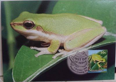 (全新)澳洲-明信片+(郵票)首日
