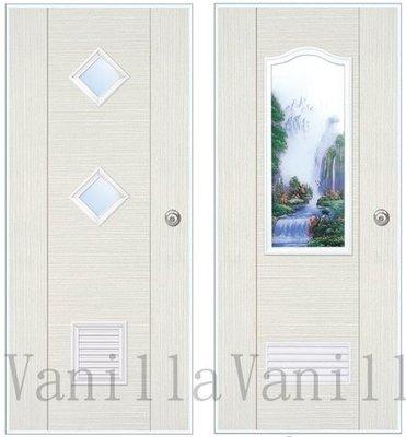 [廣山門窗] P75波音白檀塑鋼門- 廁所門 浴室門 南亞塑鋼門 房間門 房門 臥室門  (含五金)