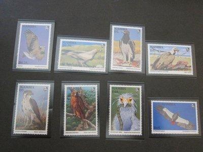 【雲品】岡比亞Gambia 1993 Sc 1367-74 鳥禽Bird set MNH