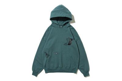 "[ LAB Taipei ] BlackEyePatch GASIUS "" GASIUS HOODIE ""(Green)"