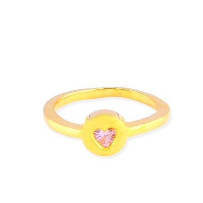 【JHT 金宏總珠寶/GIA鑽石】0.82錢 粉鑽愛心黃金戒指 (請詳閱商品描述)
