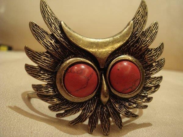 美國帶回,全新歐美品牌復古貓頭鷹造型手環,只有一件,低價起標無底價!本商品免運費!