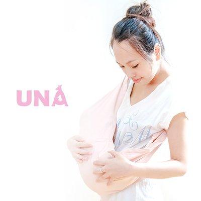 Una背巾 (哺乳揹巾) 背帶 推車 哺乳衣 巾最佳支援~嬰兒背巾 ☆╮精選彈性系列~淡粉 ╭☆台灣製好品質