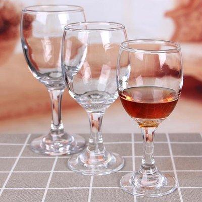 6隻加厚無鉛玻璃小紅酒杯高腳杯葡萄酒杯白酒杯套裝家用酒店免運yi   全館免運
