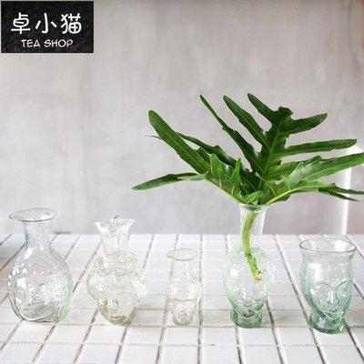 【卓小貓】(法國)La Soufflerie手作吹制玻璃人臉酒瓶花器Vase Tête