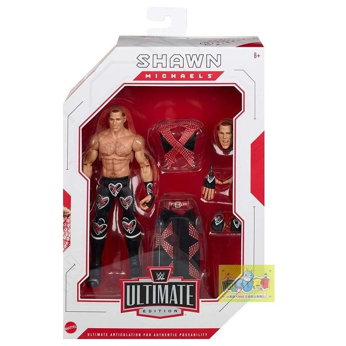 ☆阿Su倉庫☆WWE Shawn Michaels Ultimate Elite Figure HBK終極精華版人偶公仔