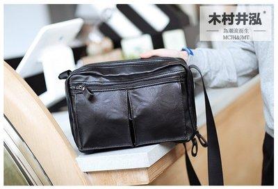 ㊣木村井泓 多口袋造型斜背包 MCJH&JMT 側背包 單肩包 側背包 郵差包(F6658)