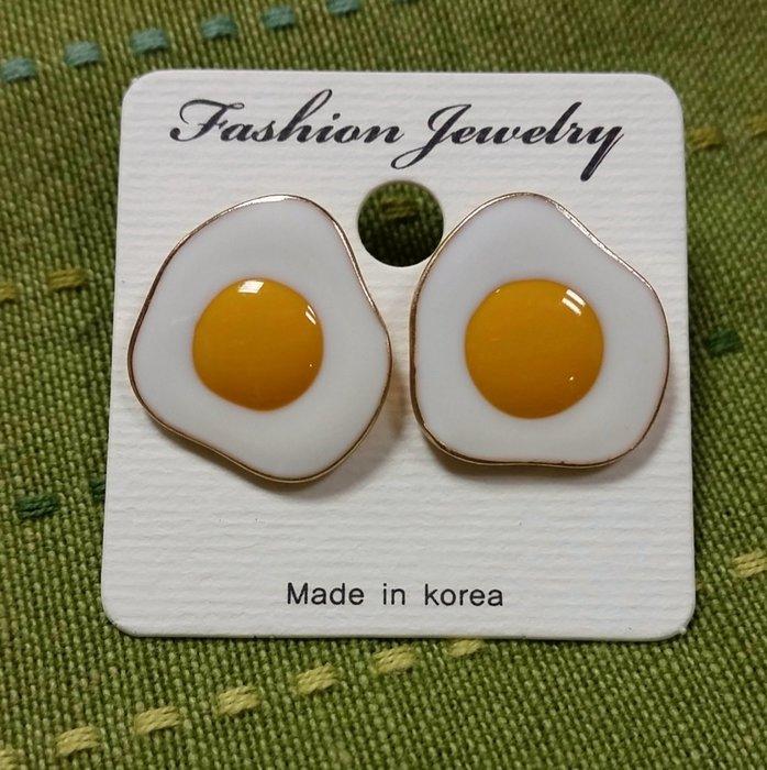夏限定韓國童趣荷包蛋造型耳環 飾品#可愛♥ 現貨+追加☞ⓜⓐⓓⓔ ⓘⓝ ⓚⓞⓡⓔⓐ