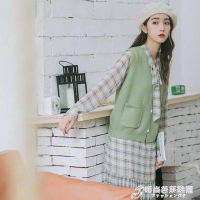 【免運】-秋裝新款毛衣馬甲女寬鬆文藝小...