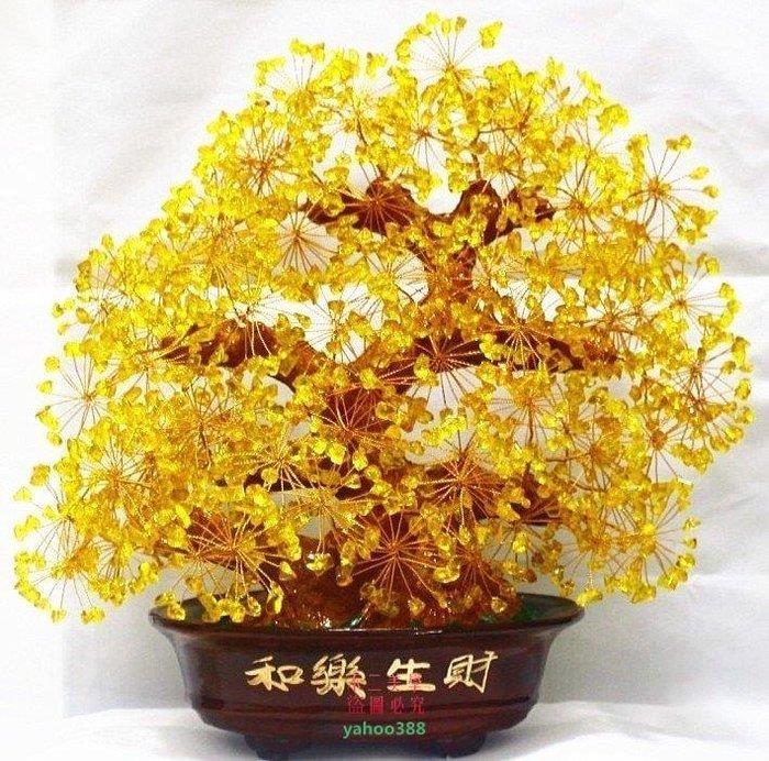 美學262天然黃水晶發財樹 招財樹 搖錢樹 水晶樹 和樂生財 擺件 多色❖59197